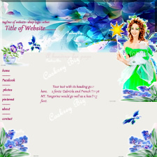 jpg image of a website template designed by Coskrey Biz